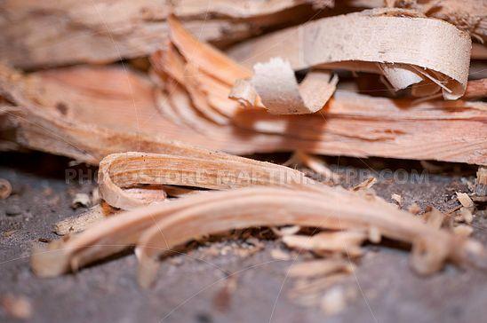 Holz-Späne zum Feuermachen
