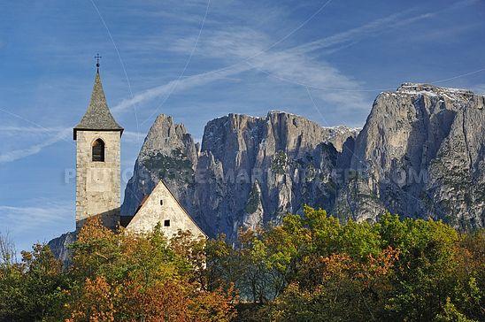St. Andreas in Antlas mit Schlern