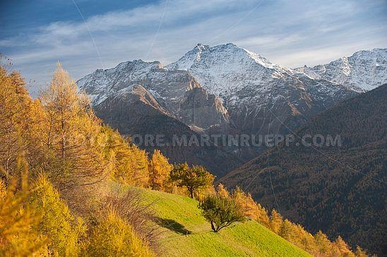 Landschaft vor Jennwand und Laaser Spitze