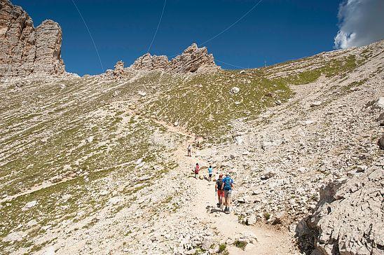 Am Weg zum Crespeina-Joch