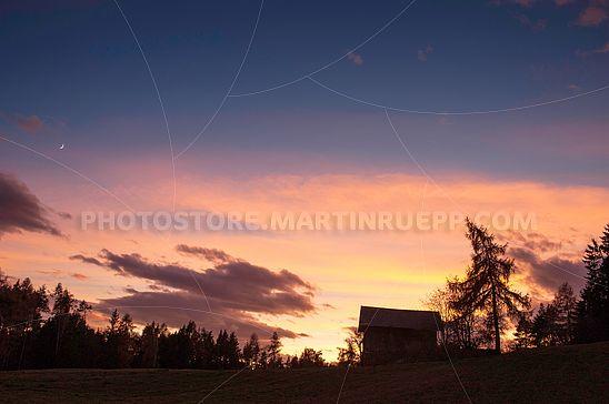 Abendhimmel über dem Ritten