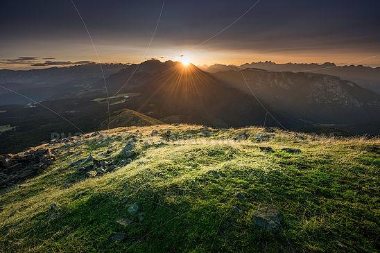 Sonnenaufgang über dem Latemar