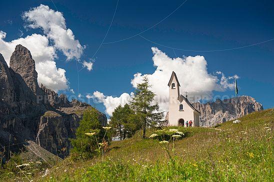 Kapelle zum Hl. Maurizio auf dem Grödner Joch