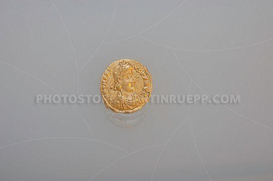 Römischer Solidis des Kaisers Flavius Honorius