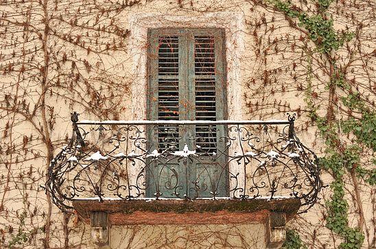 Balkon und Balkontür