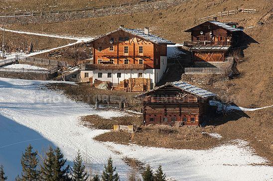 Alte Bauernhöfe im Ultental