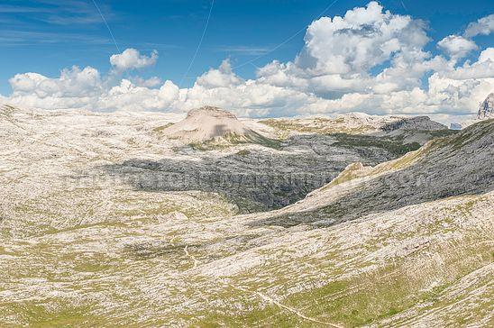 Die Puez-Hochfläche in den Dolomiten