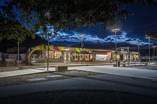 Die Vinschgerbahn bei Nacht