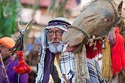 Beduine mit Kamel