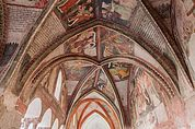 Freskengeschmückte Gewölbe des Kreuzgangs Brixen