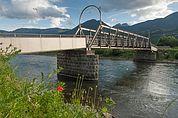 Stahlbrücke der historischen Lokalbahn Lana - Meran