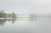 Die Rienz im Nebel