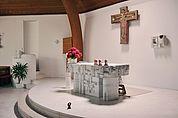 Altarraum der Pfarrkirche Kortsch