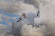 Schlern in Wolken