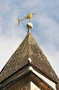 Turmdach der Pfarrkirche St. Johannes in Kortsch