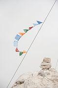 Tibetfahne am Gipfel des Monte Pez