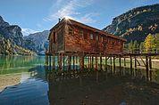 Bootshaus am Pragser Wildsee