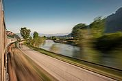 Zugfahrt in Bozen