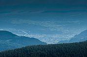 Blick von der Schwarzseespitze nach Bozen