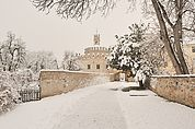 Winterliche Engelburg beim Kloster Neustift