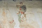 Reiter-Fresko an der Burkapelle bei Hocheppan