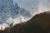 Berghang unter dem Langkofel