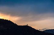 Abendlicher Himmel über Kohlern