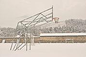 Sportplatz im Schnee