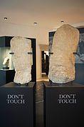 Algunder Menhire im Museum Meran
