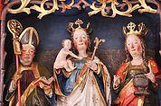 Heiligenfiguren des Flügelaltars Kortsch