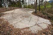 Schalenstein auf der Tschötscher Heide