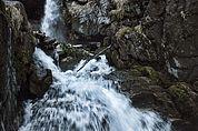 Am Wasserfall des Schlandraunbachs