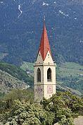 Der Turm der Pfarrkirche Mals