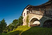 Der Innenhof von Schloss Summersberg