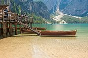 Boot am Pragser Wildsee