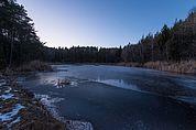 Der Mitterstieler-See im Winter