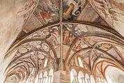 Dom-Kreuzgang Brixen mit gotischen Fresken
