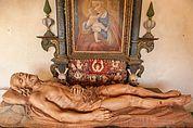 Holzskulptur Leichnam Christi