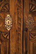 Prunkvolle Tür