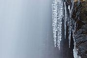 Eiszapfen am Wasserfall