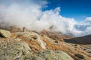 Steinmandl auf der Langseeplatte im Spronser Tal