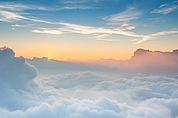 Sonnenaufgang über den Puezspitzen