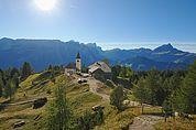 Blick zur Wallfahrtskirche Heilig Kreuz