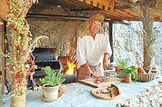 Mittelalterliche Küche der Haderburg Salurn