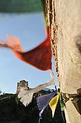Gebetsfahnen auf Schloss Sigmundskron