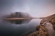 Die Pfitscherlacke im Nebel