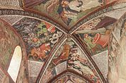 Gewölbe-Wandgemälde der 5. Arkade