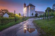 Abend bei der Gleifkirche in Eppan