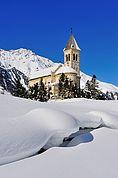 Pfarrkirche Sulden im Winter