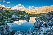 Crespeina-See im Naturpark Puez-Geisler
